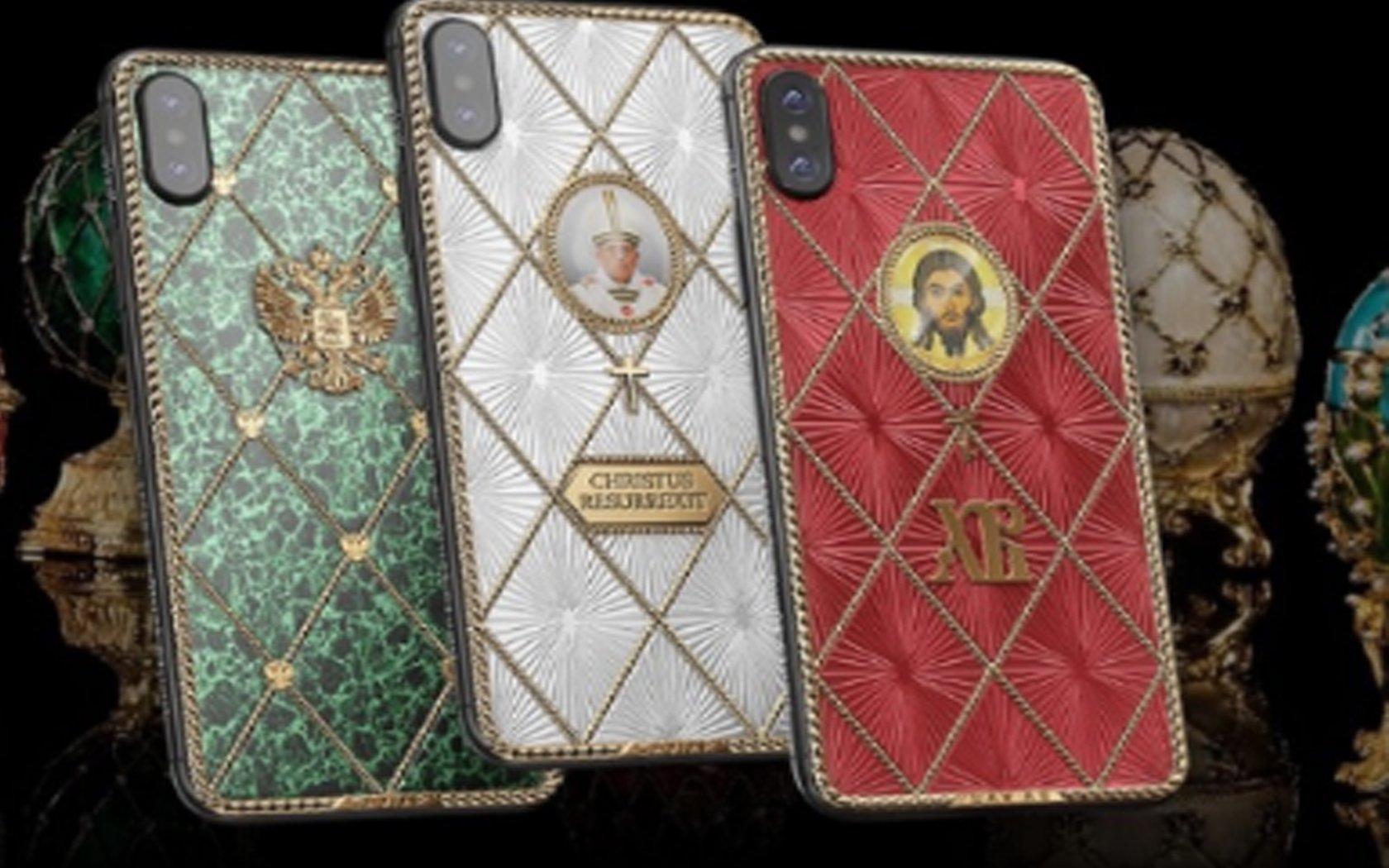 Компания Caviar представила три дизайна iPhone X для христиан