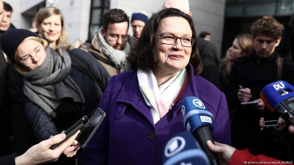 Социал-Демократическую партию Германии впервый раз возглавила женщина