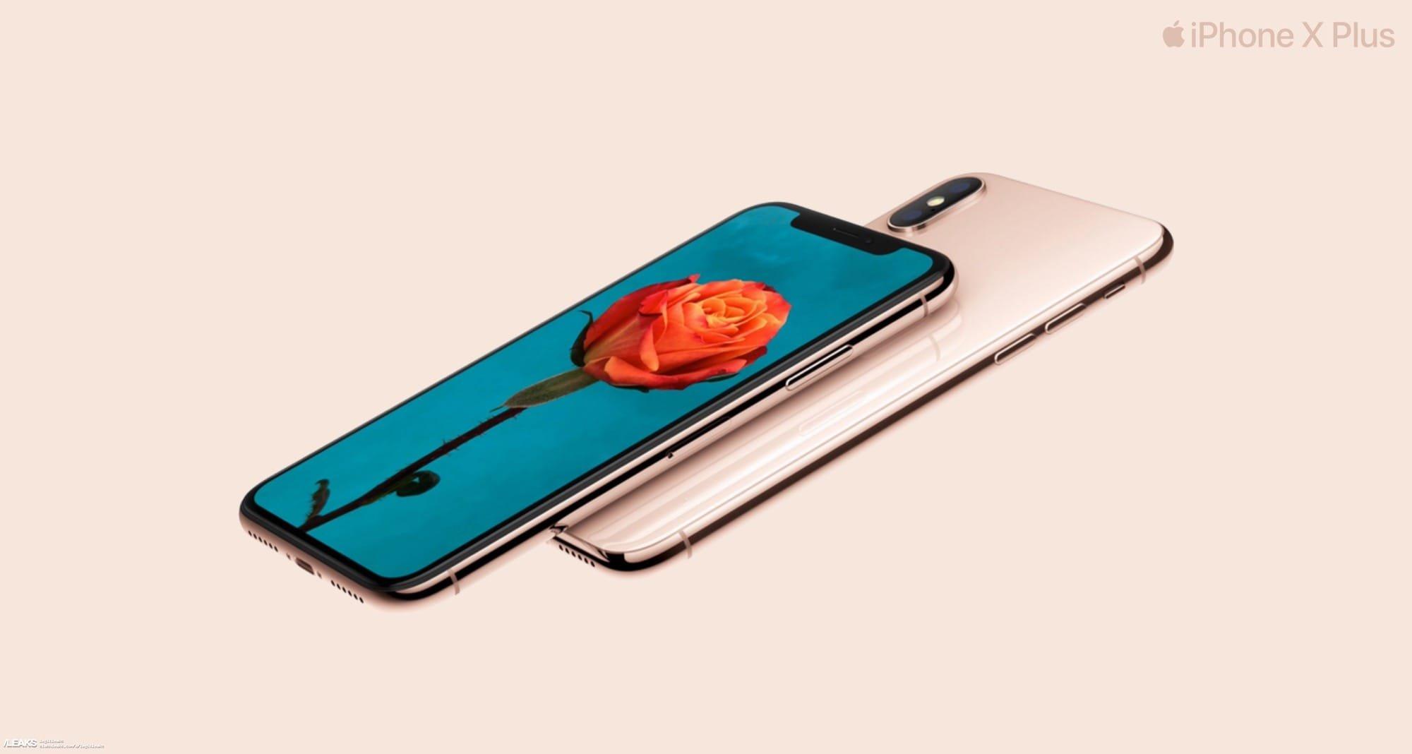 IPhone XPlus взолотом цвете: первые маркетинговые изображения