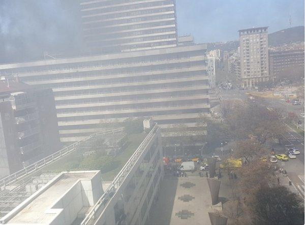 В Барселоне при пожаре в отеле Expo пострадал один человек