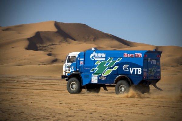 Новый газовый КАМАЗ пройдет тест-драйв на ралли