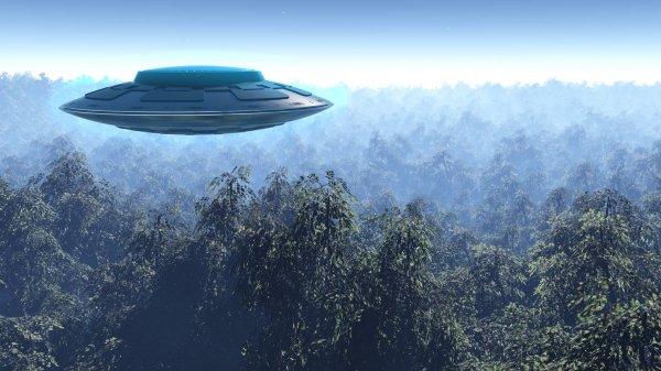 Пассажир самолета сфотографировал во время грозы НЛО