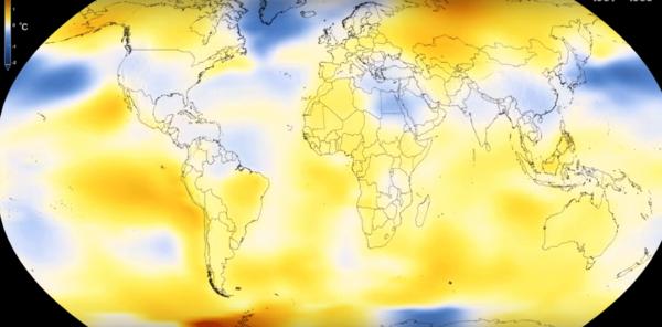 Ученые NASA показали, насколько сильно изменилась температура на Земле за 140 лет
