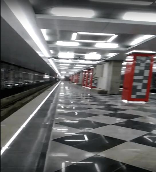 В Сеть выложили видео с новой станции метро «Рассказовка» в Москве