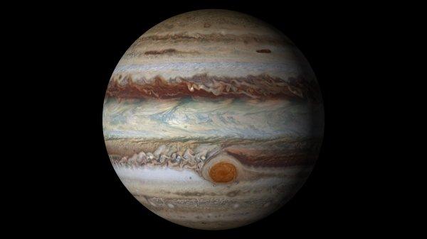 Ученые показали Большое красное пятно Юпитера