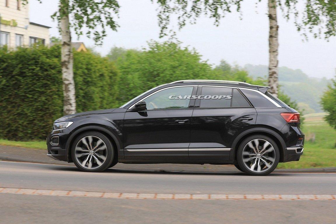 VW T-Roc R жжёт резину на Нюрбургринге