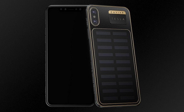 Первый экземпляр – Илону Маску. В продажу поступил iPhone X Tesla, способный заряжаться от света