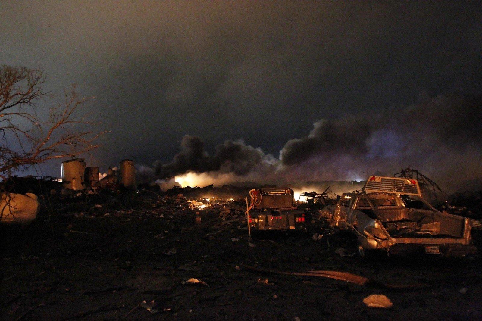 Нахимзаводе вТехасе произошел пожар, неменее 20 пострадавших