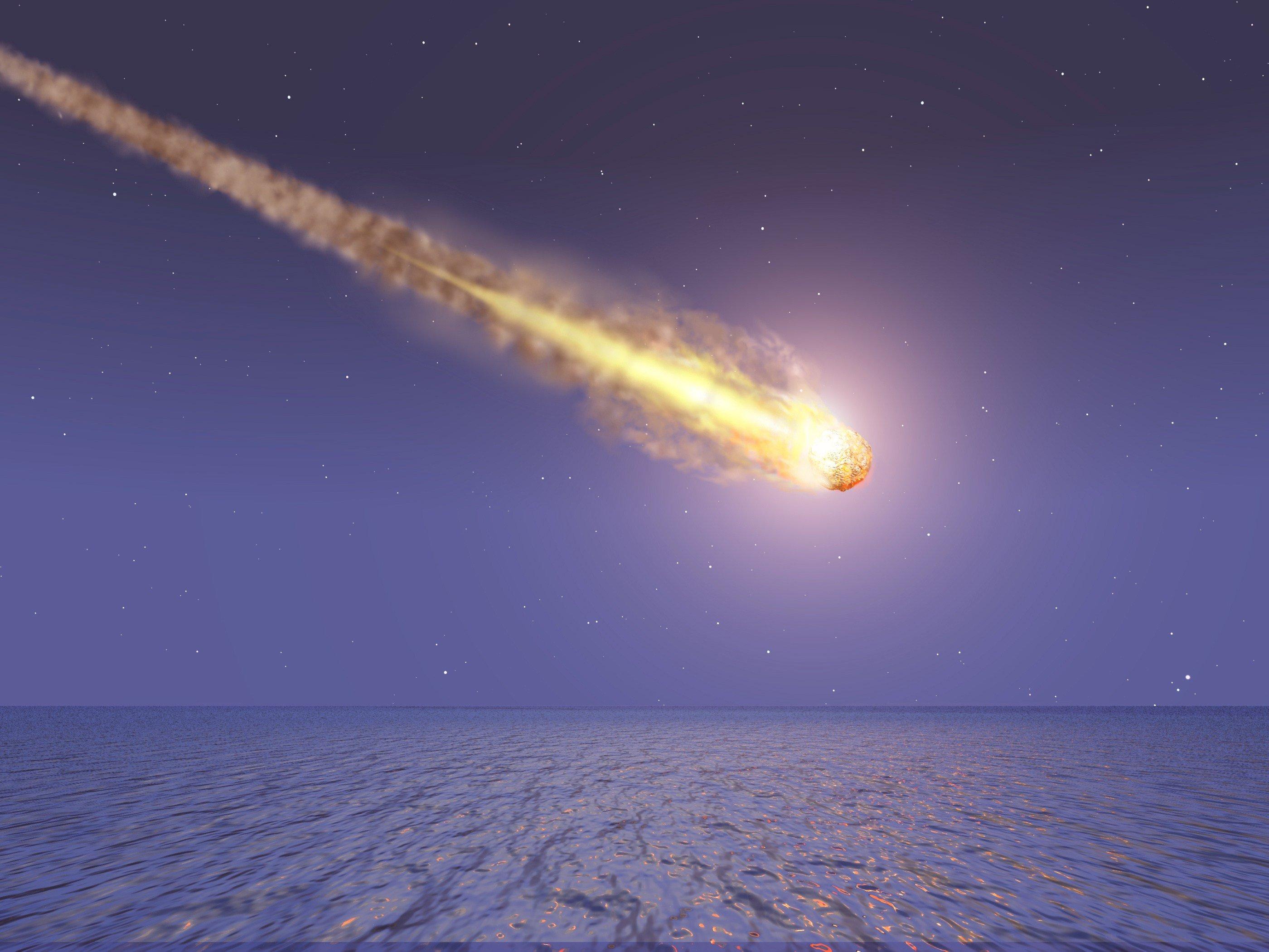 ВКитайской народной республике упавший метеорит едва неуничтожил город