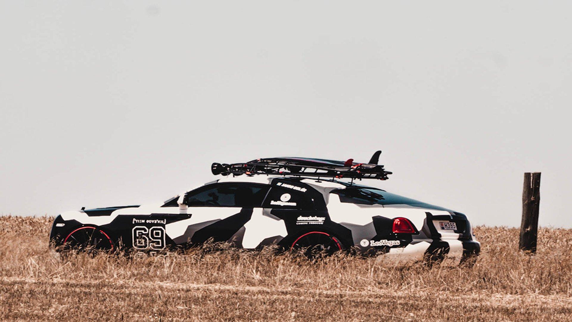 На продажу выставили 812-сильный Rolls-Royce Wraith для бернаута