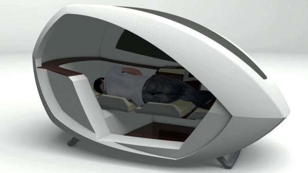 В аэропортах Европы неудобные кресла заменят капсулами для сна