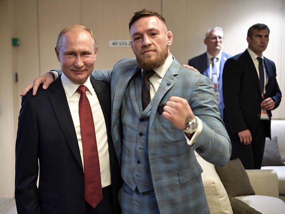 Нурмагомедов ответил Макгрегору, опубликовав фото сдвойником В.Путина