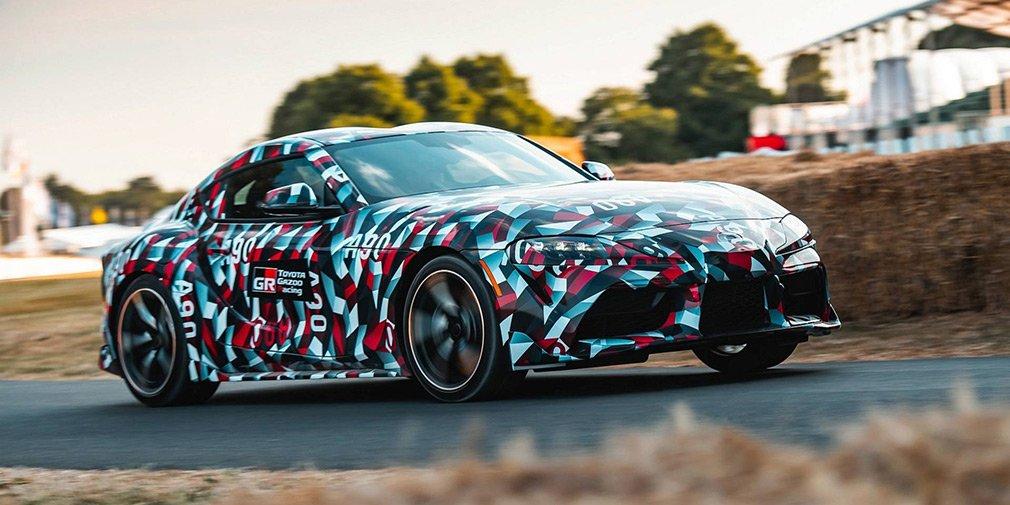 Новая Toyota Supra получила новый камуфляж от военного линкора