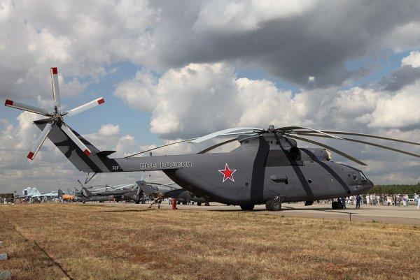 Усовершенствованный вертолет Ми-26 совершил первый полет