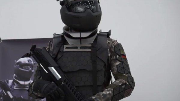 В России протестировали активный экзоскелет с аккумуляторами для армии