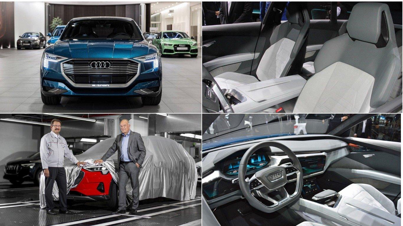 Audi запустил в производство первый электрический кроссовер e-tron