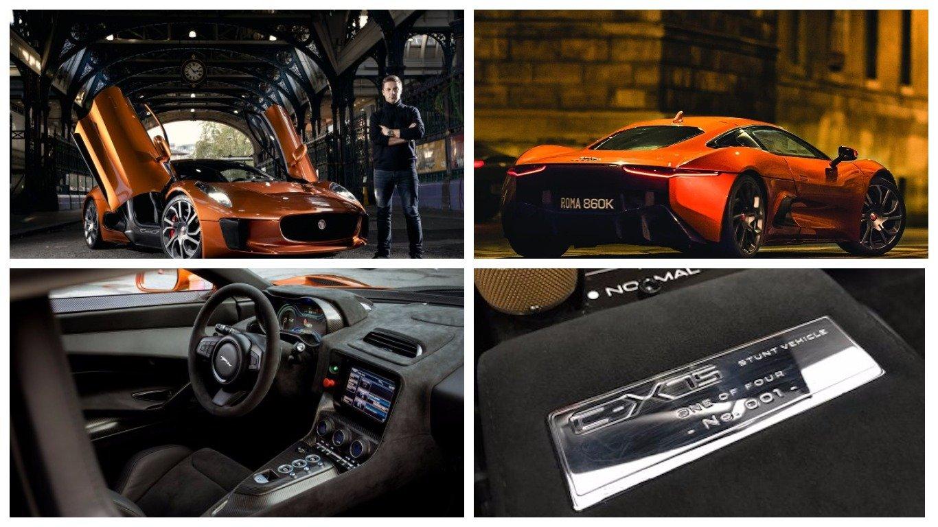 Автомобиль Ягуар C-X75 Spectre изфильмов про Бонда выставили на реализацию