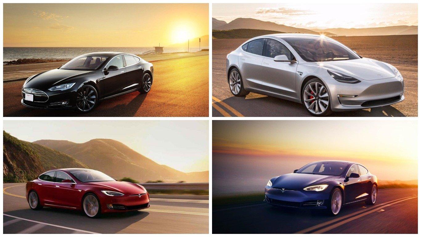 Tesla сократит количество доступных цветов для своих электромобилей