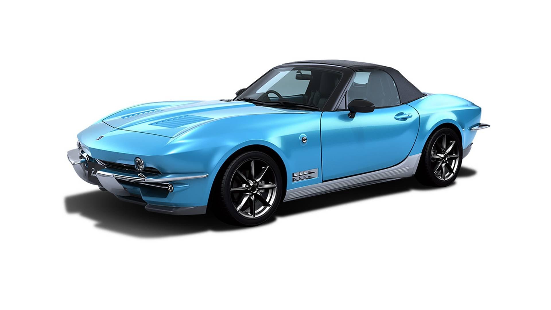 Японцы скрестили Мазда MX-5 и Шевроле Corvette 60-х