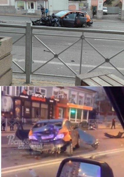 Пьяный водитель разбил арендованную машину в центре Ростова