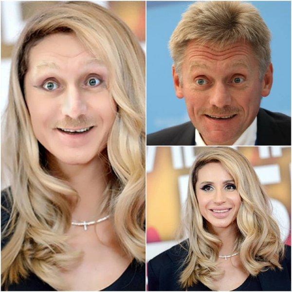 «Усатая красавица»: Соцсети показали «дочь» Пескова и Лободы