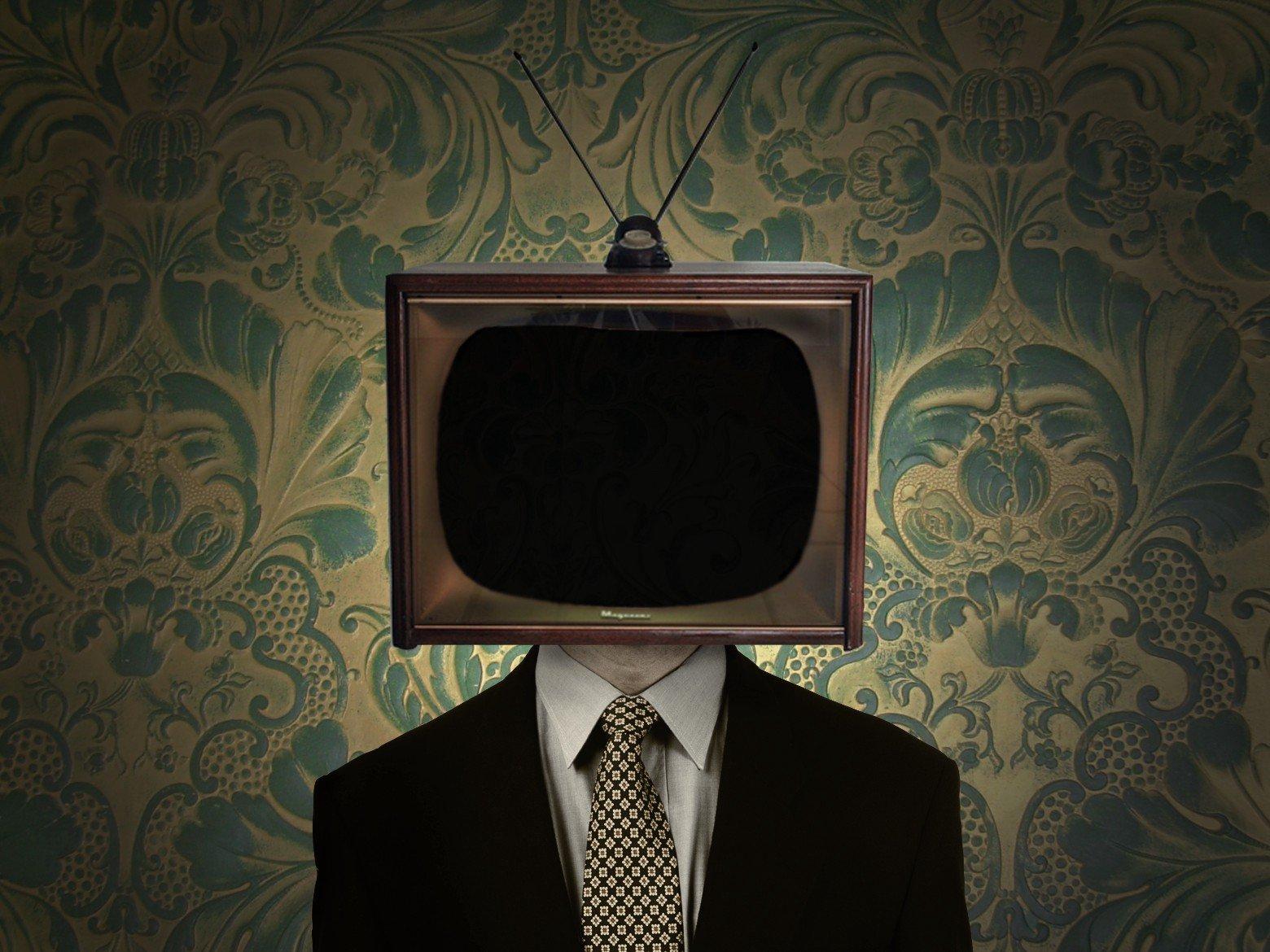 Телевизор голова картинки