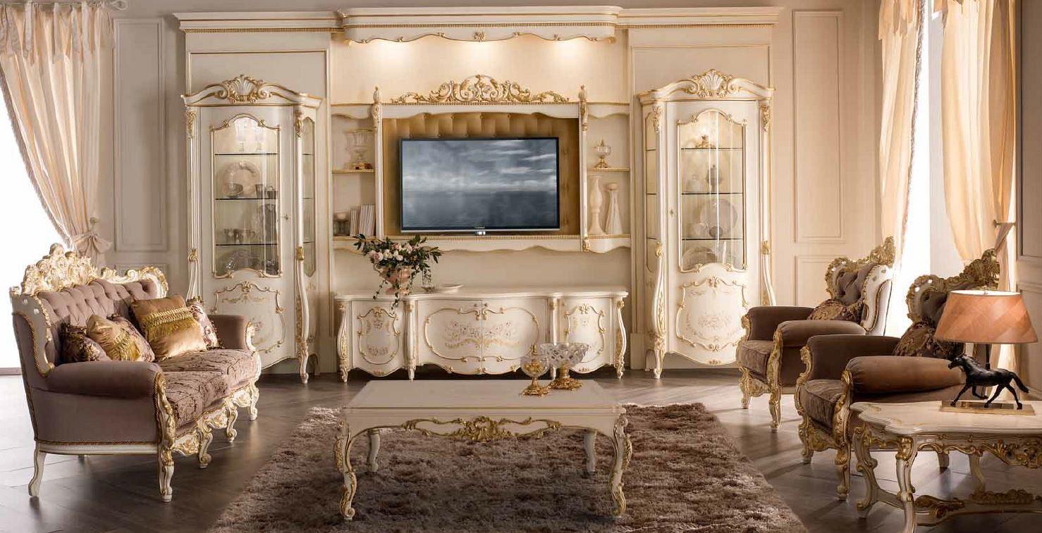 элитная белая мебель для гостиной фото