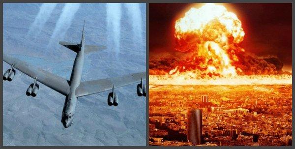 США готовят ядерный апокалипсис: бомбардировщики ВВС США нацелились на Россию из Европы