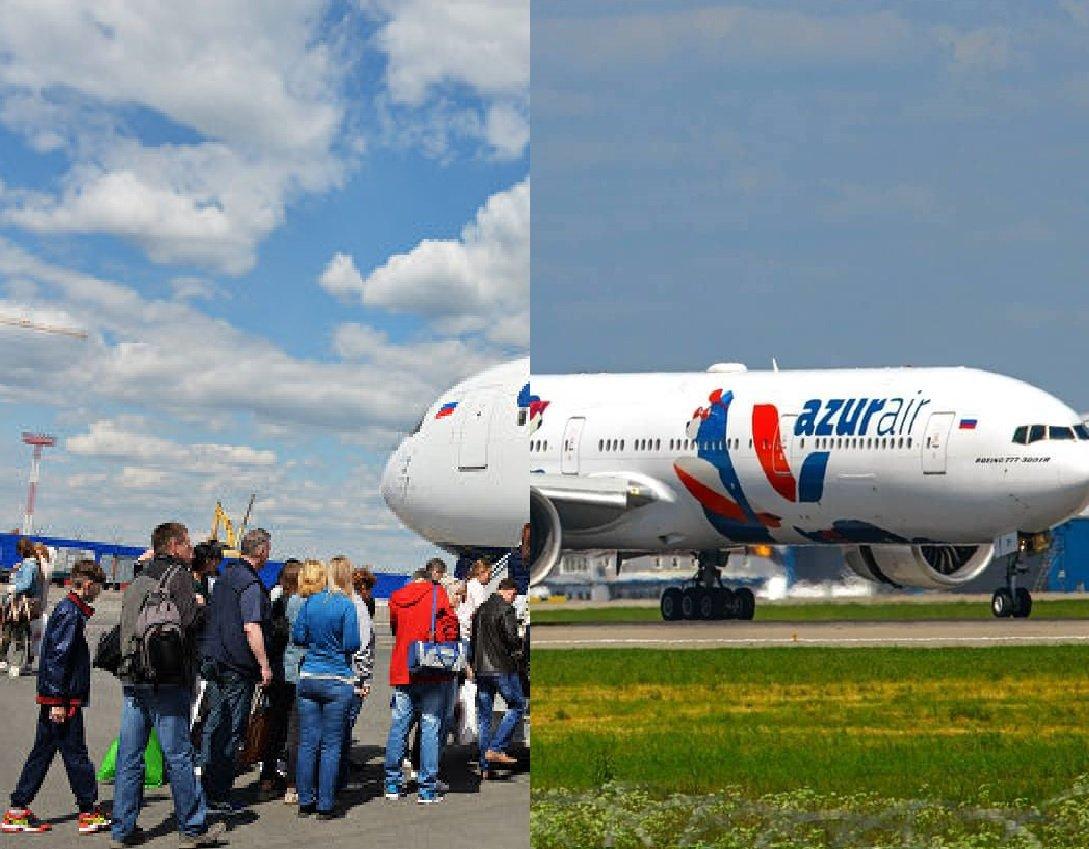 Самолет с россиянами вернулся в аэропорт из-за спущенного колеса