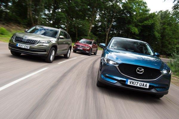 «Пенсионерский» VAG слабоват: «Стоковая» Mazda CX-5 уделала «прошитый» Skoda Kodiaq