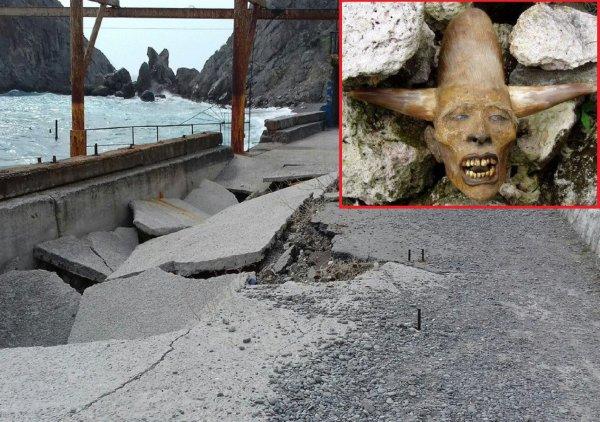 Крым провалится в Ад - Голову демона выловили из Чёрного моря