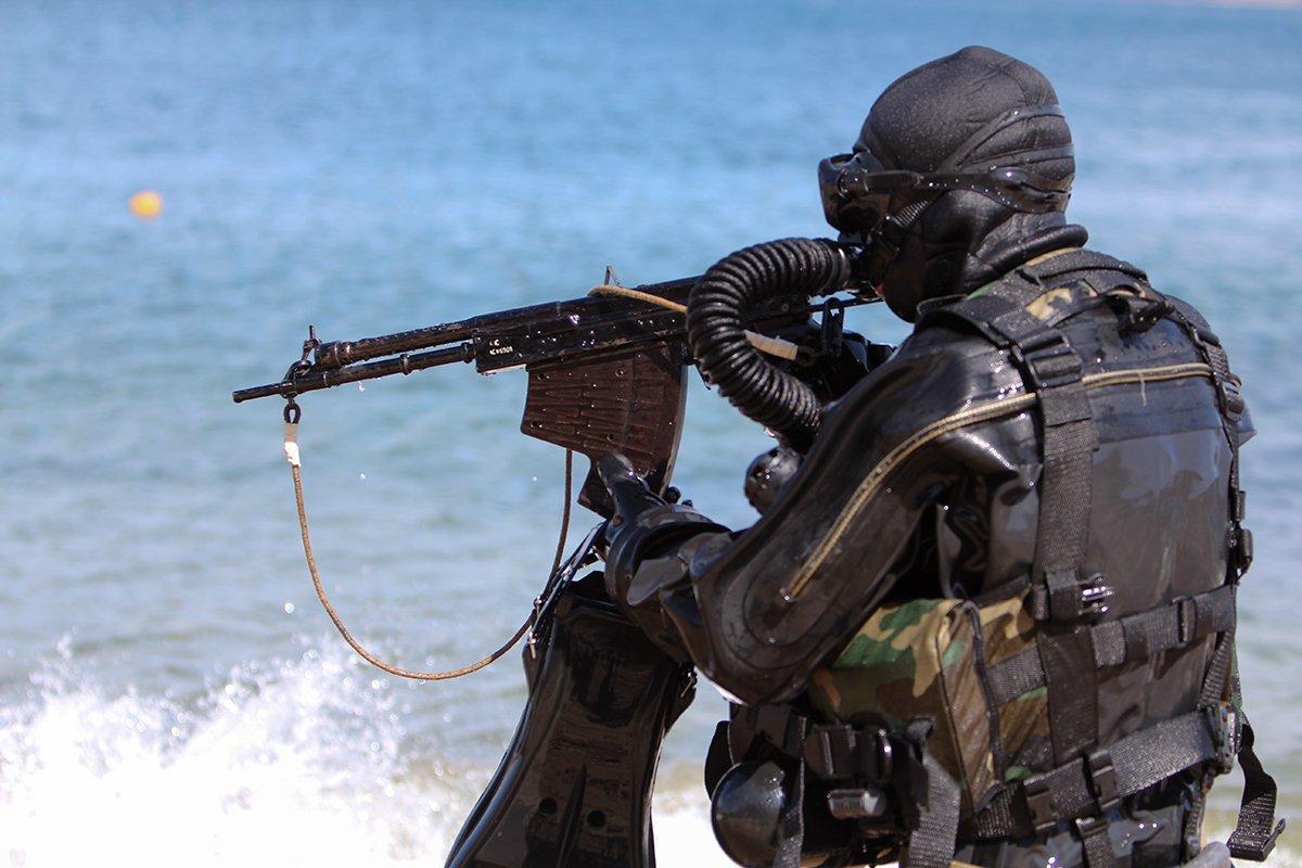 Фото подводного бойца