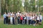 """Вчера в детском лагере """"Икар"""" состоялся матч по волейболу между сотрудниками полиции и сборной лагеря"""