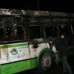 Выясняются причины возгорания пассажирского автобуса в центре Омска