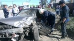 В Якутске «Тойота» столкнулась с автобусом. Пассажир иномарки скончался.